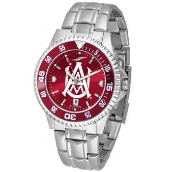 Alabama A&M University Bulldogs Mens Watch - Competitor Anochrome - Colored Bezel - Steel Band