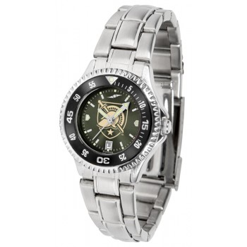 United States Military Academy Army Black Knights Ladies Watch - Competitor Anochrome - Colored Bezel - Steel Band