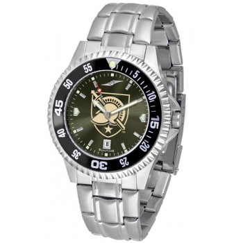 United States Military Academy Army Black Knights Mens Watch - Competitor Anochrome - Colored Bezel - Steel Band