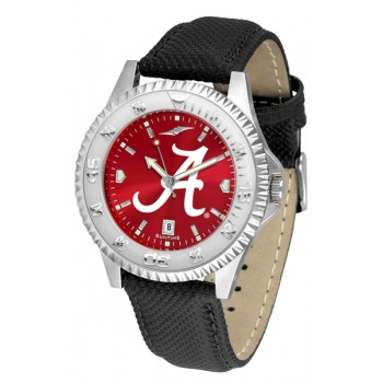 University Of Alabama Crimson Tide Mens Watch - Competitor Anochrome Poly/Leather Band