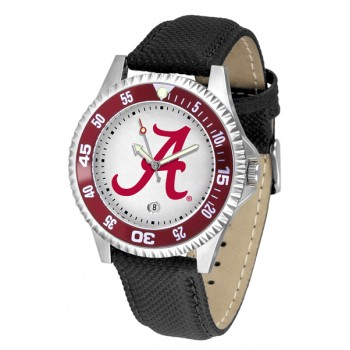 University Of Alabama Crimson Tide Mens Watch - Competitor Poly/Leather Band