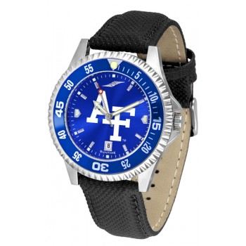 United States Air Force Academy Falcons Mens Watch - Competitor Anochrome Colored Bezel Poly/Leather Band