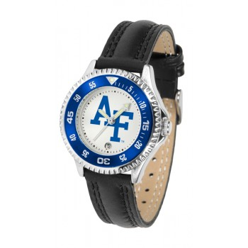 United States Air Force Academy Falcons Ladies Watch - Competitor Poly/Leather Band