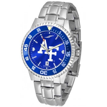 United States Air Force Academy Falcons Mens Watch - Competitor Anochrome - Colored Bezel - Steel Band
