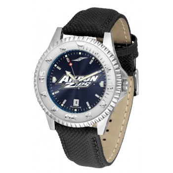 University Of Akron Zips Mens Watch - Competitor Anochrome Poly/Leather Band