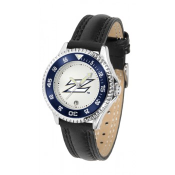 University Of Akron Zips Ladies Watch - Competitor Poly/Leather Band