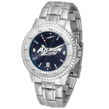 University Of Akron Zips Mens Watch - Competitor Anochrome Steel Band