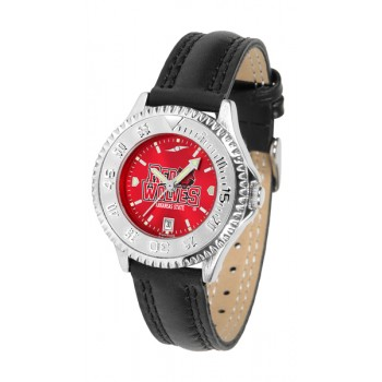 Arkansas State University Indians Ladies Watch - Competitor Anochrome Poly/Leather Band