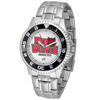 Arkansas State University Indians Mens Watch - Competitor Steel Band