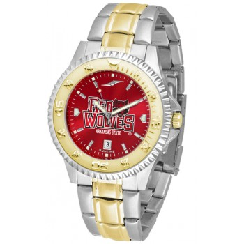 Arkansas State University Indians Mens Watch - Competitor Anochrome Two-Tone