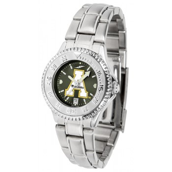 Appalachian State University Mountaineers Ladies Watch - Competitor Anochrome Steel Band
