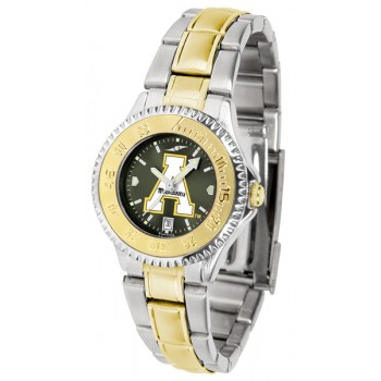 Appalachian State University Mountaineers Ladies Watch - Competitor Anochrome Two-Tone