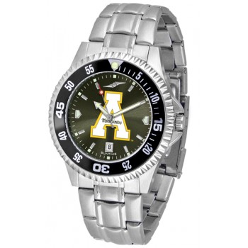 Appalachian State University Mountaineers Mens Watch - Competitor Anochrome - Colored Bezel - Steel Band