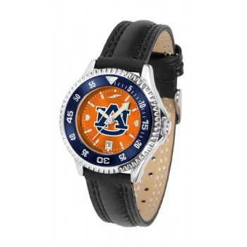 Auburn University Tigers Ladies Watch - Competitor Anochrome Colored Bezel Poly/Leather Band