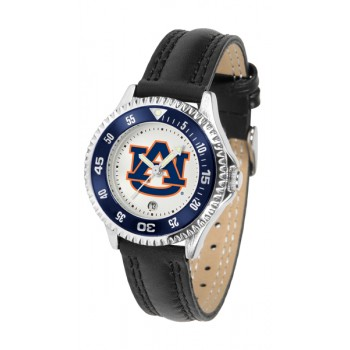 Auburn University Tigers Ladies Watch - Competitor Poly/Leather Band