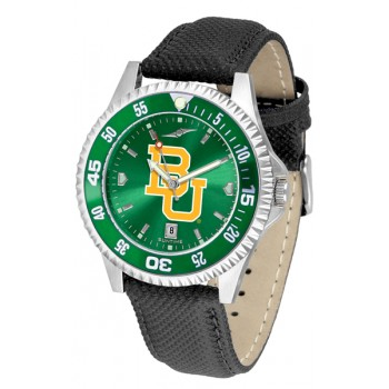 Baylor University Bears Mens Watch - Competitor Anochrome Colored Bezel Poly/Leather Band