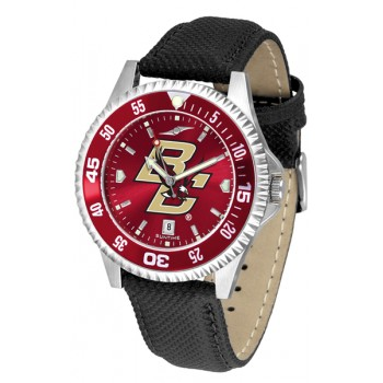Boston College Eagles Mens Watch - Competitor Anochrome Colored Bezel Poly/Leather Band