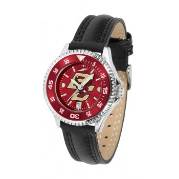 Boston College Eagles Ladies Watch - Competitor Anochrome Colored Bezel Poly/Leather Band