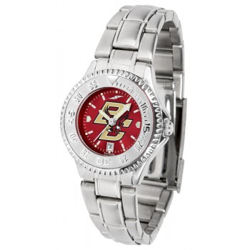Boston College Eagles Ladies Watch - Competitor Anochrome Steel Band