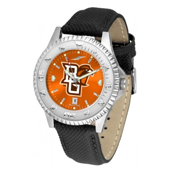 Bowling Green State University Falcons Mens Watch - Competitor Anochrome Poly/Leather Band