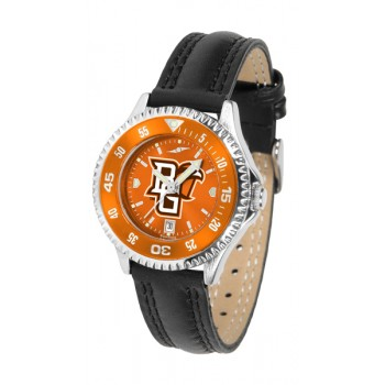 Bowling Green State University Falcons Ladies Watch - Competitor Anochrome Colored Bezel Poly/Leather Band