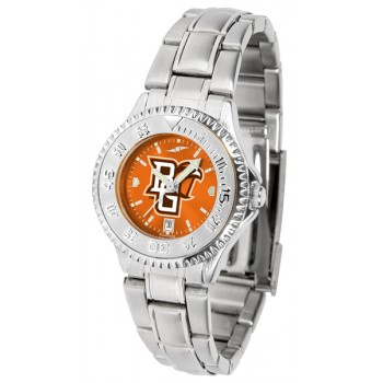 Bowling Green State University Falcons Ladies Watch - Competitor Anochrome Steel Band
