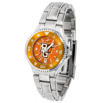 Bowling Green State University Falcons Ladies Watch - Competitor Anochrome - Colored Bezel - Steel Band