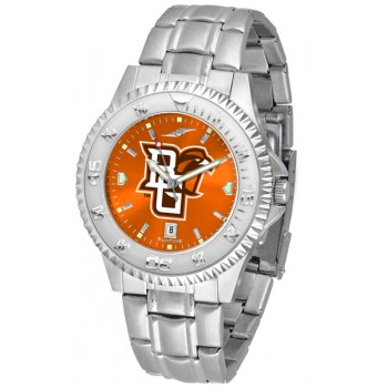 Bowling Green State University Falcons Mens Watch - Competitor Anochrome Steel Band