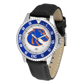 Boise State University Broncos Mens Watch - Competitor Poly/Leather Band