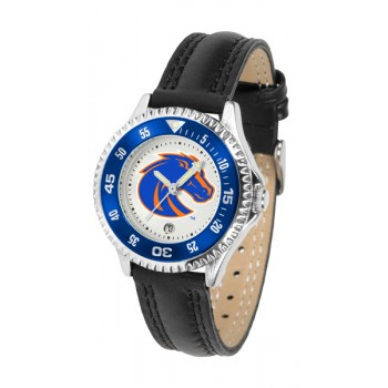 Boise State University Broncos Ladies Watch - Competitor Poly/Leather Band