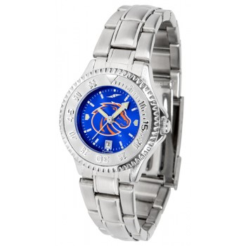 Boise State University Broncos Ladies Watch - Competitor Anochrome Steel Band