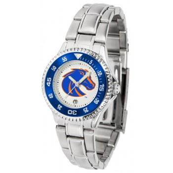 Boise State University Broncos Ladies Watch - Competitor Steel Band