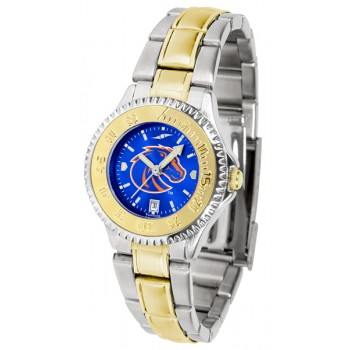 Boise State University Broncos Ladies Watch - Competitor Anochrome Two-Tone