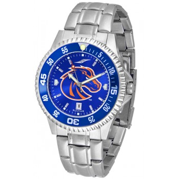 Boise State University Broncos Mens Watch - Competitor Anochrome - Colored Bezel - Steel Band