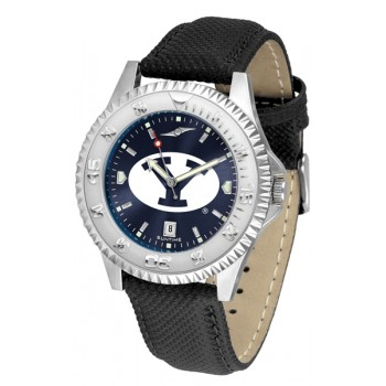 Brigham Young University Cougars Mens Watch - Competitor Anochrome Poly/Leather Band