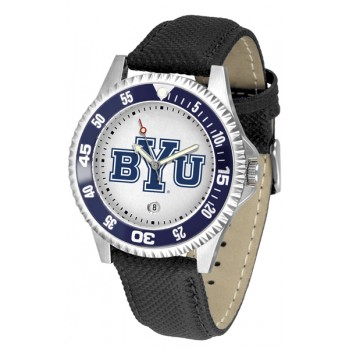 Brigham Young University Cougars Mens Watch - Competitor Poly/Leather Band