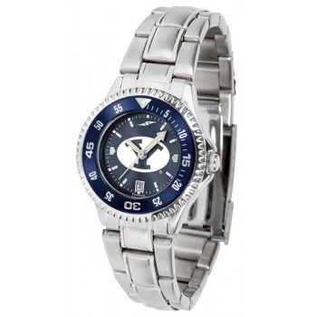 Brigham Young University Cougars Ladies Watch - Competitor Anochrome - Colored Bezel - Steel Band