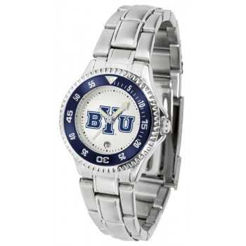 Brigham Young University Cougars Ladies Watch - Competitor Steel Band