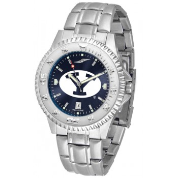 Brigham Young University Cougars Mens Watch - Competitor Anochrome Steel Band