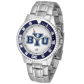 Brigham Young University Cougars Mens Watch - Competitor Steel Band