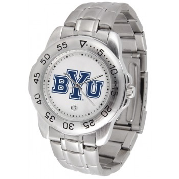 Brigham Young University Cougars Mens Watch - Sport Steel Band