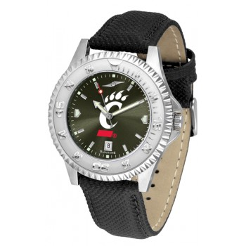 University Of Cincinnati Bear Cats Mens Watch - Competitor Anochrome Poly/Leather Band