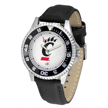 University Of Cincinnati Bear Cats Mens Watch - Competitor Poly/Leather Band