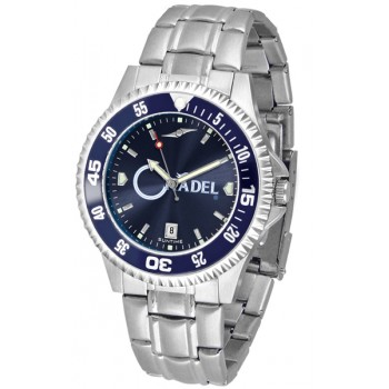 The Citadel Mens Watch - Competitor Anochrome - Colored Bezel - Steel Band