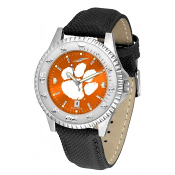 Clemson University Tigers Mens Watch - Competitor Anochrome Poly/Leather Band