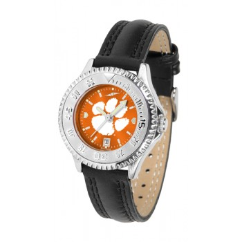 Clemson University Tigers Ladies Watch - Competitor Anochrome Poly/Leather Band