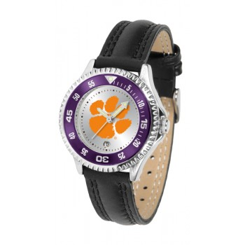 Clemson University Tigers Ladies Watch - Competitor Poly/Leather Band
