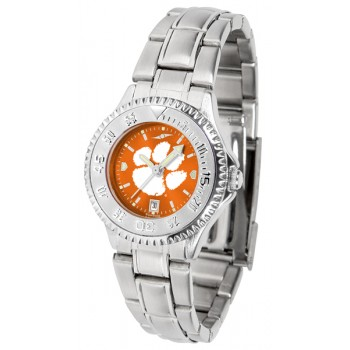 Clemson University Tigers Ladies Watch - Competitor Anochrome Steel Band