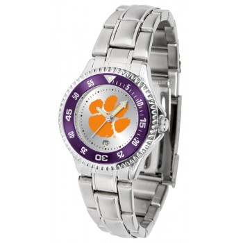 Clemson University Tigers Ladies Watch - Competitor Steel Band