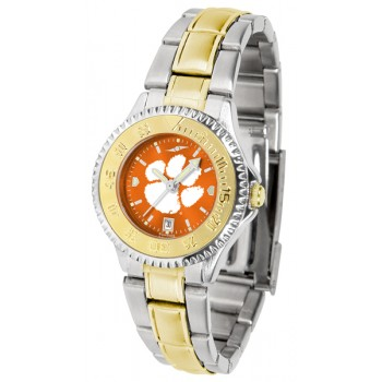Clemson University Tigers Ladies Watch - Competitor Anochrome Two-Tone